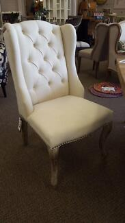 Hampton style wingback dining chairs - new cream colour Midland Swan Area Preview