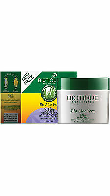Biotique Bio Aloe Vera Face   Body Sun Cream 55 G  Pack Of 2