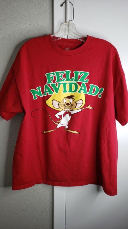 SPEEDY GONZALES Feliz Navidad! T-shirt  XL Red LOONEY TUNES