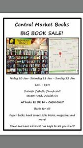 Central Market Books big book sale! Dulwich Burnside Area Preview