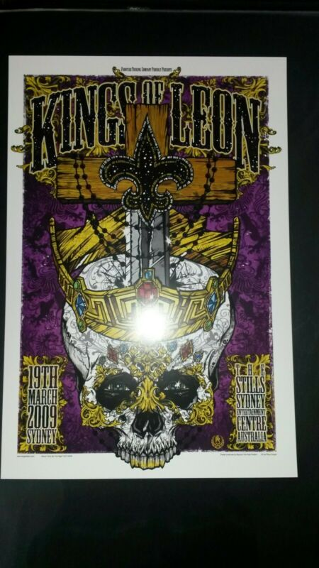Kings Of Leon March 19-2009 Sydney, Australia Poster Concert Gig The