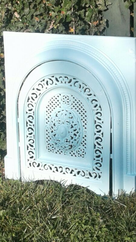 Antique Victorian Cast Iron Surround with Matching Summer Cover