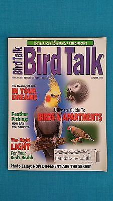 "BIRD  TALK  MAGAZINE          ""JANUARY  2000  /  FEATHER  PICKING - BIRDKEEPING"""