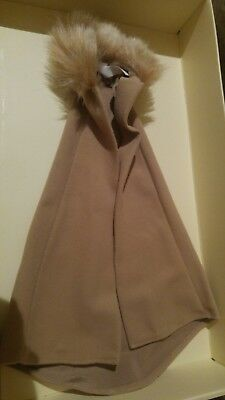 BARBIE DOLL LIGHT BROWN  CAPE  WITH FUR COLLAR