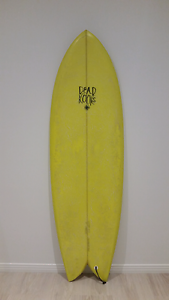 DEAD KOOKS 5'5 RICHES Twin fin Surfboard Miami Gold Coast South Preview