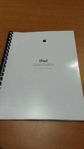 APPLE IPAD  & IPAD MINI iOS 6.1 FULL PRINTED INSTRUCTION MANUAL USER GUIDE A4