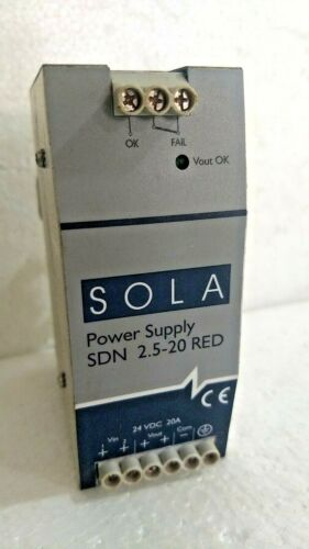 Egs SDN 2.5-20 RED Sola/hevi-duty Redundant Power Supply 24v-dc 20a