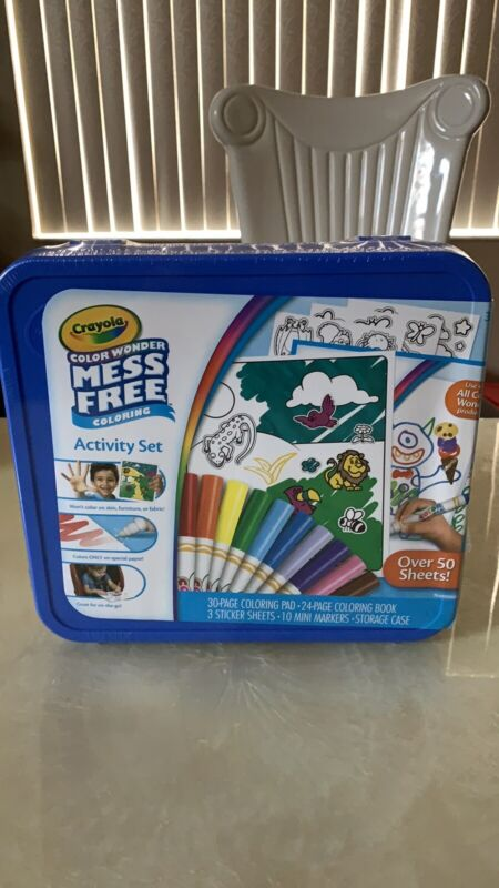 68 Piece Crayola Color Wonder Mess Free Activity Set Brand New Sealed. Age 3+