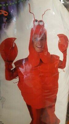 Mardi Gras Party Costumes (Mardi Gras Crawfish Craw Daddy ADULT COSTUME, Lobster, Mudbug, Fun Party)