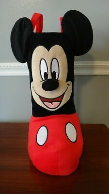 """Disney Mickey Mouse Christmas Plush Standing Stocking Boot 13"""" NEW NWT"""