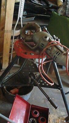 Ridgid Model 700 Pipe Threader Complete Set Stand 115v