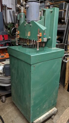 12 SPINDLE CABINET LINE BORING MACHINE SINGLE PHASE PNEUMATIC FEED LOCAL PICKUP