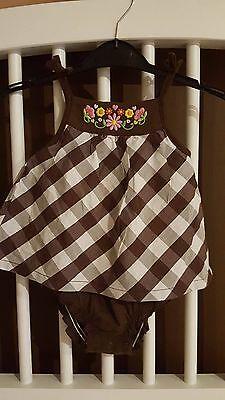Carter's NB 9 Months Mint Bodysuit Dress