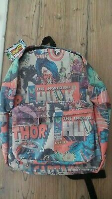 MARVEL COMICS Avengers Rucksack Tasche Backpack Schul Reise Sport Bag Schulter ()