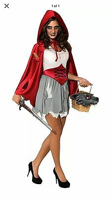 Womens Small/ Petit Walking Dead Little Red Riding Hood Costume - Size 6-10