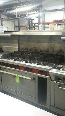 Used 48 Natural Gas Vulcan Range 8burner 1standard Oven