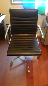 Designer office chairs 2 desk chairs (leather) Tempe Marrickville Area Preview