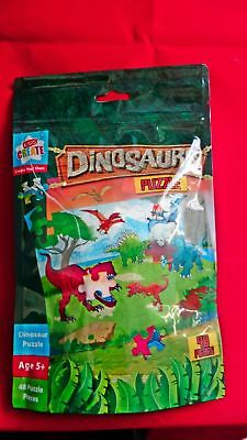 48 Pieces Dinosaur PUZZLE Party Bag Filler Jigsaw Game Kids Creative Art 5+ UK](Creative Halloween Games)