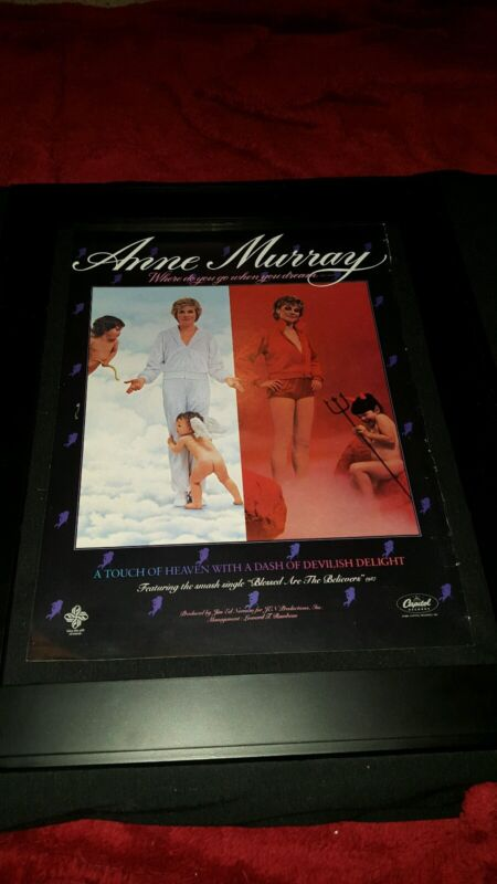 Anne Murray Where Do You Go When You Dream? Rare Original Promo Poster Ad Framed