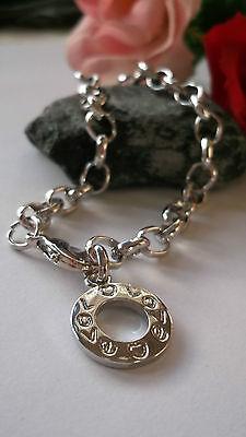 Designer Armband, Neu, 70´er, Versilbert, Hippie Look, Love, 20,0 cm lang ()