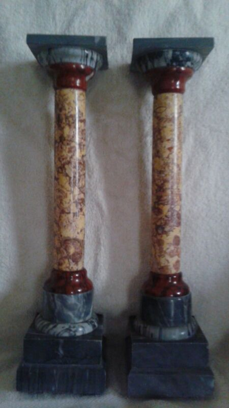 19th Century Pair of Italian Marble Grand Tour Doric Columns