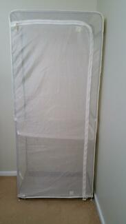 White Ikea Portable Wardrobe