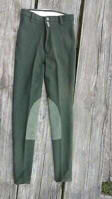 Devon-Aire Ladies Cool  Cotton Size 24-R Green  Riding Breeches Cool Cotton Riding Breeches