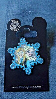 Frozen Anna and Elsa Disneyland Snow Flake Trading Pin California Adventure ()