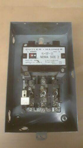 Cutler Hammer size #2 NEMA Contactor w/overloads