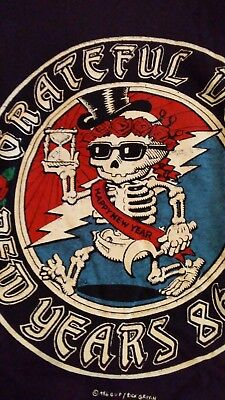 GRATEFUL DEAD new years 86-87 woman's large size t shirt RICK GRIFFIN ART RARE!