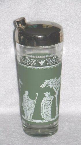Jeanette Hellenic Green Wedgwood Jasperware Cocktail Shaker