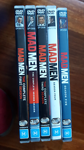 Mad Men dvds series 1-5 excellent condition Summer Hill Ashfield Area Preview
