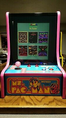 Ms Pac Man BarTop Icade Multi Classic Arcade Game Countertop Table Pac