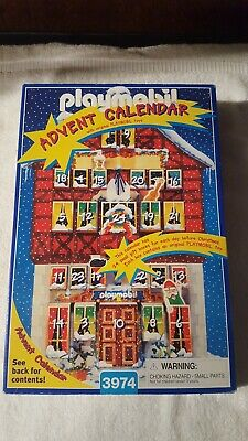 Playmobil Advent Calendar 3974(1997) Christmas Santa's Workshop! Great Condition