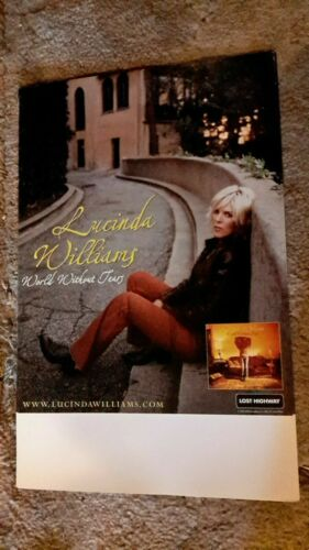 LUCINDA-WILLIAMS-world-without-tears-1POSTER-11X17INCHES-NMINT