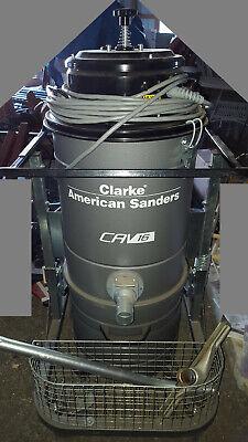 Clarke American Industrial Floor Sanding Dust Control Collection Vacuum System