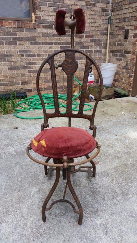 Rare Antique Adjustable Dentist Dental Chair Medical Quack Office