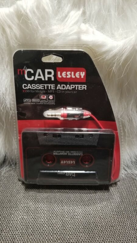 Lesley M4 Car Cassette Adapter for Phone, MP3 or CD in your car New never opened