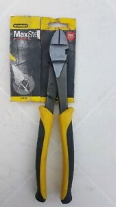 BRAND NEW STANLEY MAX STEEL DIAGONAL CUTTING PLIERS. HIGH LEVERAGE