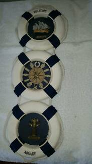 Very rare vintage clock boating wall hanger