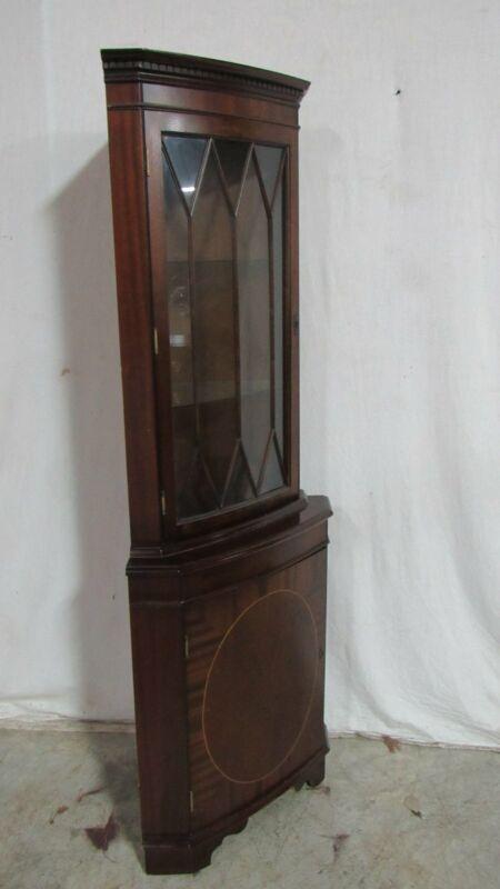 Corner Cabinet Mahogany Petite Inlaid