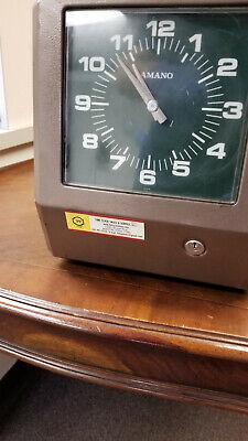 Amano 6836 6807 6809 6833 Consecutive Punch Time Clock