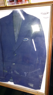 RARE VINTAGE FORD JACKET IN FRAME WITH GLASS..1970s??? $150