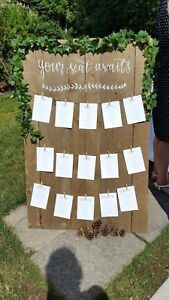Rustic Wooden Wedding Seating Chart - RENT ONLY
