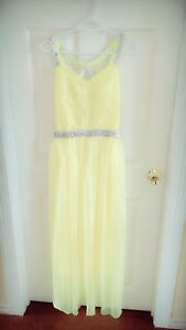 Yellow long maxi party wear dress - brand new