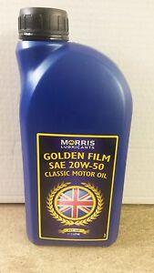 Morris golden film sae 20w50 classic motor oil 1 litre ebay for Classic motor oil 20w50