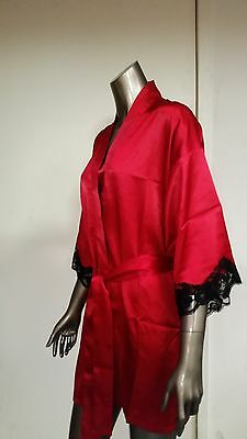 new fredericks of hollywood red satin robe.  retail  34.50 (Red Satin Robes)