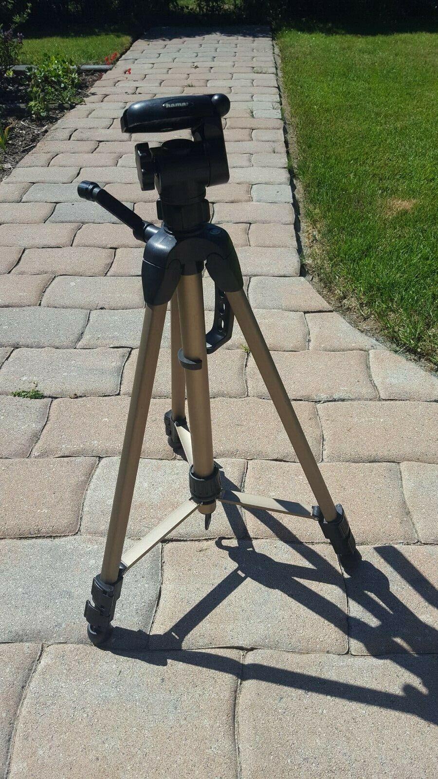 wie neu- HAMA Dreibein Fotostativ, Videokamera Halter bis 1,70 m