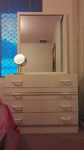 Dressing Table with 4 drawers and big mirror Adelaide CBD Adelaide City Preview