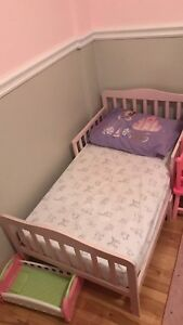 Toddler bed with mattress - purchased on Wayfair